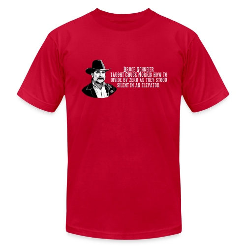Bruce Schneier Fact - Men's  Jersey T-Shirt