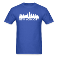 T-Shirts ~ Men's T-Shirt ~ New York City Skyline
