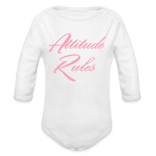 i make the rules - Organic Long Sleeve Baby Bodysuit