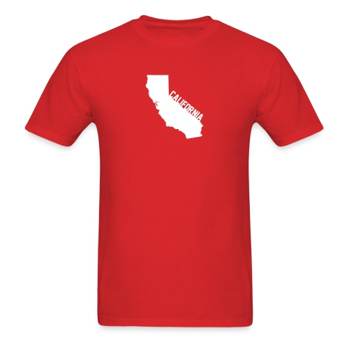 California ShapeText Red - Men's T-Shirt