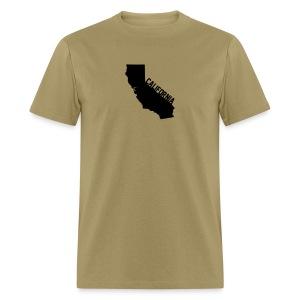 California ShapeText Khaki - Men's T-Shirt