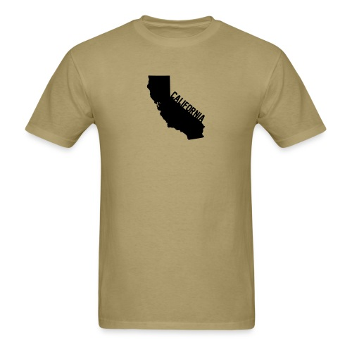 California ShapeText Khaki - Men's T-Shirt
