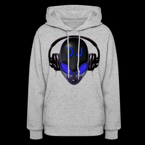 Alien DJ - Blue - Hard Shell Bug - Womens Hoodie - Women's Hoodie