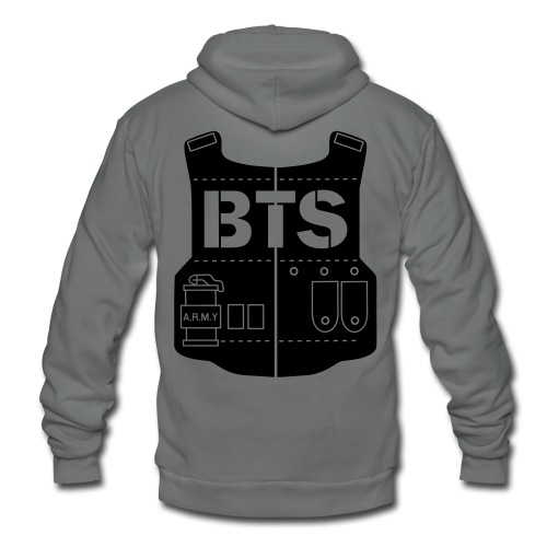 BTS Vest- Single Sided - Unisex Fleece Zip Hoodie by American Apparel