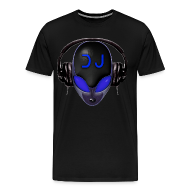 T-Shirts ~ Men's Premium T-Shirt ~ Alien DJ - Blue - Hard Shell Bug - T-shirt