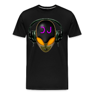 T-Shirts ~ Men's Premium T-Shirt ~ Alien DJ - Orange - Hard Shell Bug - T-shirt