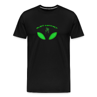 T-Shirts ~ Men's Premium T-Shirt ~ Alien Contact Green Eyes - T Shirt
