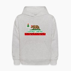 California Christmas Kids Hooded Sweatshirt