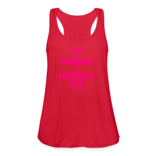 Women's Flowy Tank Top by Bella - Diamonds and Dumbbells, Fit Affinity Fitness,