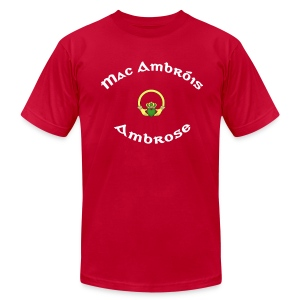 Ambrose Family Claddagh Tee for Men - Men's T-Shirt by American Apparel