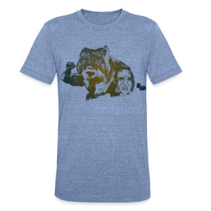 Muscular Wombat - Unisex Tri-Blend T-Shirt by American Apparel