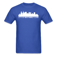 T-Shirts ~ Men's T-Shirt ~ City of Brotherly Love Skyline