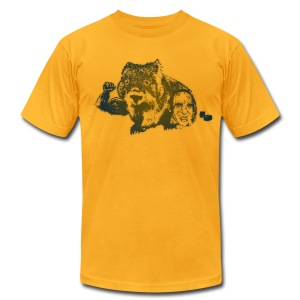 Muscular Wombat - Men's T-Shirt by American Apparel