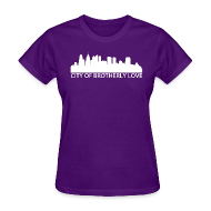 T-Shirts ~ Women's T-Shirt ~ City of Brotherly Love Skyline