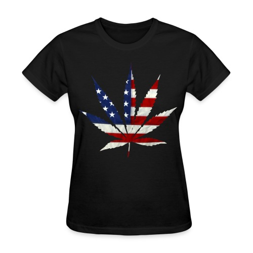 USA Cannabis Leaf - Women's T-Shirt