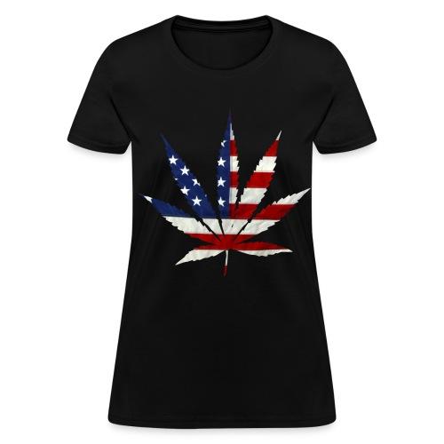 USA Cannabis Leaf - Women's T-Shirt