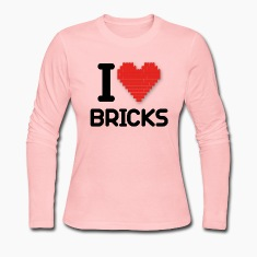 I love Bricks (dd print) Long Sleeve Shirts