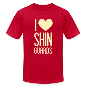 I Heart Shin Guards Men's Tee - Men's T-Shirt by American Apparel