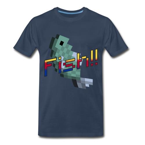 Minecraft FISH! shirt - Men's Premium T-Shirt