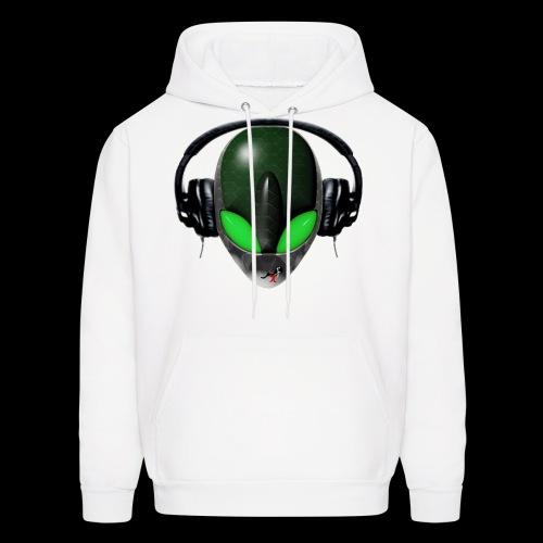 Reptile Green Alien DJ Music Lover Hoodie - Men's Hoodie