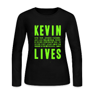 Long Sleeve Shirts ~ Women's Long Sleeve Jersey T-Shirt ~ Kevin Lives (Design by Anna)