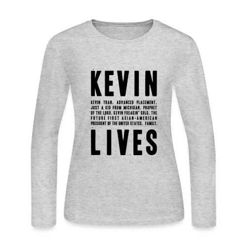 Kevin Lives (Design by Anna) - Women's Long Sleeve Jersey T-Shirt