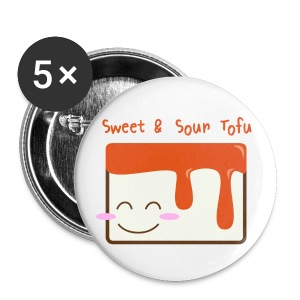 Cute Sweet & Sour Tofu Buttons - Small Buttons