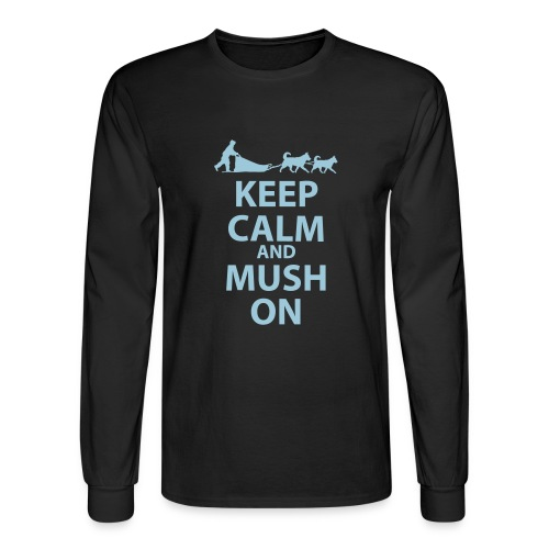 Keep Calm and MUSH on Men's Long Sleeved - Men's Long Sleeve T-Shirt