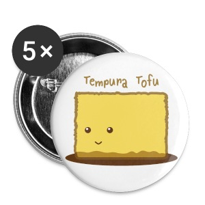 Cute Tempura Tofu Buttons - Small Buttons