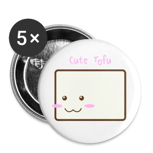 Cute Tofu Buttons - Small Buttons