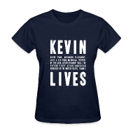 T-Shirts ~ Women's T-Shirt ~ Kevin Lives (Design by Anna)