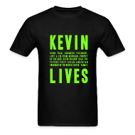 T-Shirts ~ Men's T-Shirt ~ Kevin Lives (Design by Anna)