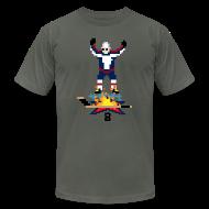 T-Shirts ~ Men's T-Shirt by American Apparel ~ 8-Bit Hot Stick Grey Men's T-Shirt