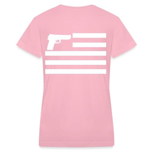 YQODC Women Bullet Proof Tee - Women's V-Neck T-Shirt