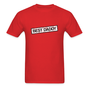 Best Daddy T-Shirt (Red) - Men's T-Shirt