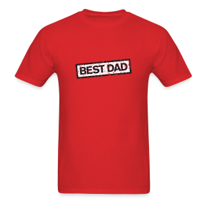 Best Dad T-Shirt (Red) - Men's T-Shirt