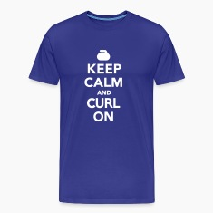 Keep calm and curl on T-Shirts