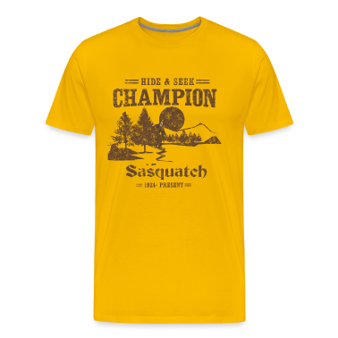 Hide and Seek Champion. Sasquatch T-Shirts