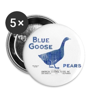 Blue Goose Pears Buttons - Small Buttons