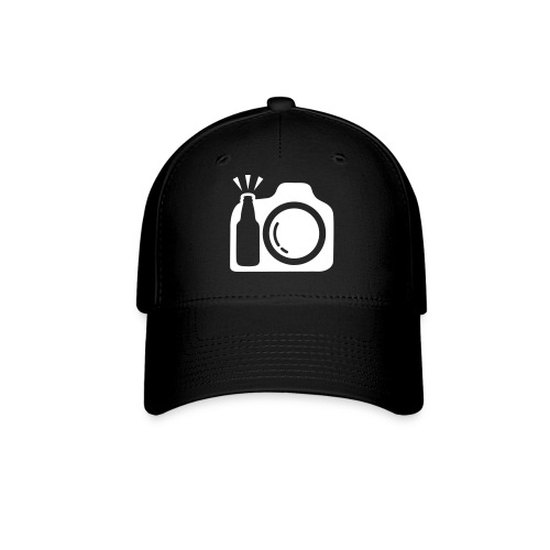 Black Cap with White Logo - Baseball Cap