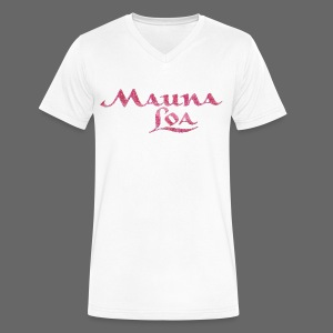 Mauna Loa - Men's V-Neck T-Shirt by Canvas