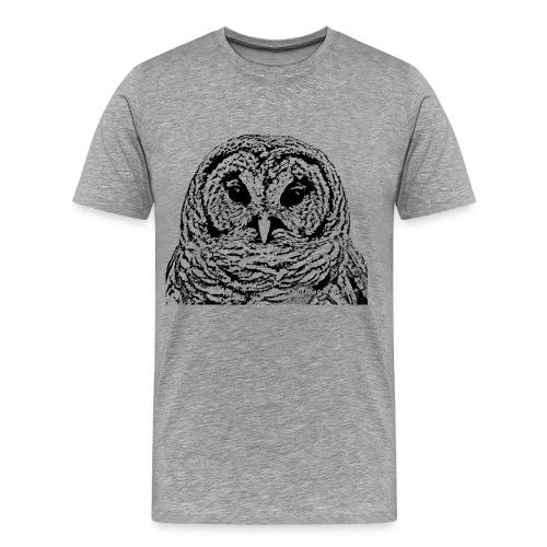 Mr Barred Owl Dec 2013 - Men's Premium T-Shirt