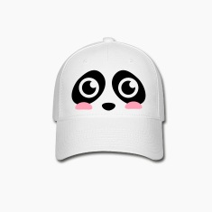 cute panda face with big eyes Caps