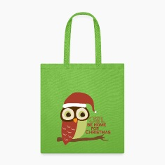 Owl Be Home For Christmas Bags & backpacks