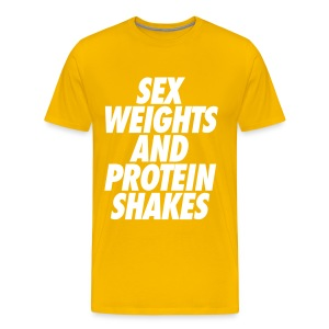 sex weights and protein shakes - Men's Premium T-Shirt