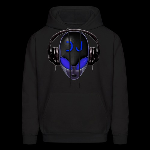 Alien DJ - Blue - Hard Shell Bug - Mens Hoodie - Men's Hoodie