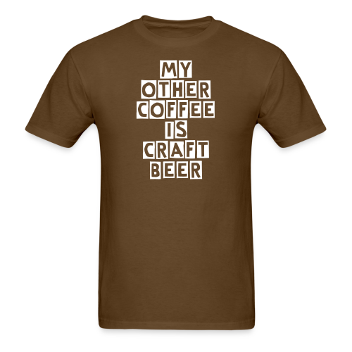 My Other Coffee Is Craft Beer Men's T-Shirt - Men's T-Shirt