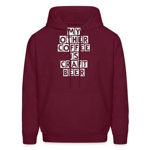 My Other Coffee Is Craft Beer Men's Hooded Sweatshirt - Men's Hoodie
