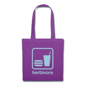 Herbivore Tote Bag (Light Blue Ink) - Tote Bag