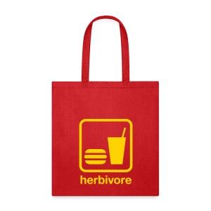 Herbivore Tote Bag (Yellow Ink) - Tote Bag